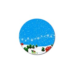 Elf On A Shelf In Sled Snowflakes Golf Ball Marker (10 Pack) by Wegoenart