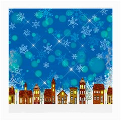 Winter Village Snow Brick Buildings Medium Glasses Cloth (2 Side)