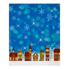 Winter Village Snow Brick Buildings Shower Curtain 60  X 72  (medium)  by Wegoenart