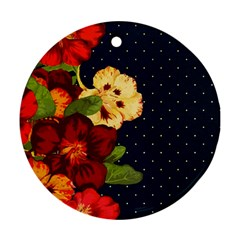 Flowers Vintage Floral Round Ornament (two Sides)