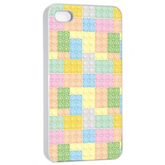 Lego Background Apple Iphone 4/4s Seamless Case (white)