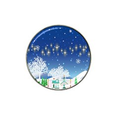 Snowflakes Snowy Landscape Reindeer Hat Clip Ball Marker (10 Pack)