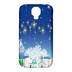 Snowflakes Snowy Landscape Reindeer Samsung Galaxy S4 Classic Hardshell Case (pc+silicone) by Wegoenart
