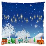 Snowflakes Snowy Landscape Reindeer Standard Flano Cushion Case (One Side) Front