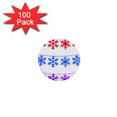 Christmas Snowflake 1  Mini Buttons (100 Pack)  by Wegoenart