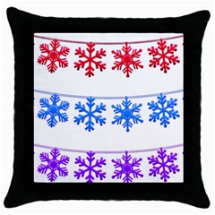 Christmas Snowflake Throw Pillow Case (black)