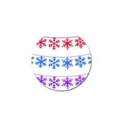 Christmas Snowflake Golf Ball Marker (4 Pack)