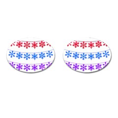 Christmas Snowflake Cufflinks (oval)