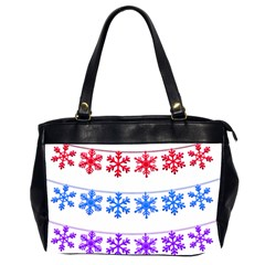 Christmas Snowflake Oversize Office Handbag (2 Sides) by Wegoenart