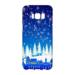 Snowflakes Snowy Landscape Reindeer Samsung Galaxy S8 Hardshell Case