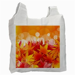 Autumn Background Maple Leaves Bokeh Recycle Bag (one Side)