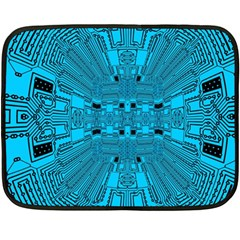 Technology Board Trace Digital Fleece Blanket (mini)