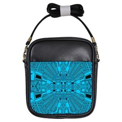Technology Board Trace Digital Girls Sling Bag by Wegoenart