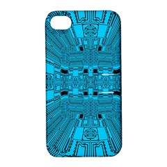 Technology Board Trace Digital Apple Iphone 4/4s Hardshell Case With Stand