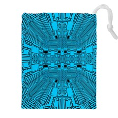 Technology Board Trace Digital Drawstring Pouch (xxl) by Wegoenart