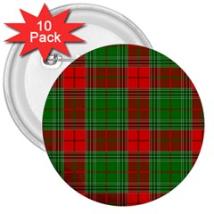 Lumberjack Plaid Buffalo Plaid 3  Buttons (10 Pack)