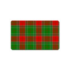 Lumberjack Plaid Buffalo Plaid Magnet (name Card)