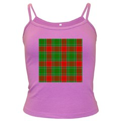 Lumberjack Plaid Buffalo Plaid Dark Spaghetti Tank by Wegoenart