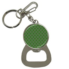 Lumberjack Plaid Buffalo Plaid Green White Bottle Opener Key Chains