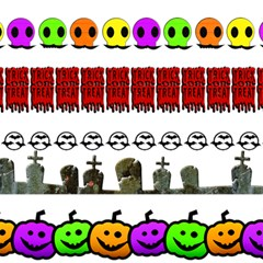 Halloween Borders Trick Or Treat Magic Photo Cube