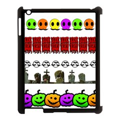 Halloween Borders Trick Or Treat Apple Ipad 3/4 Case (black)