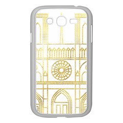 Gold Foil Notre Dame Church Paris Samsung Galaxy Grand Duos I9082 Case (white)