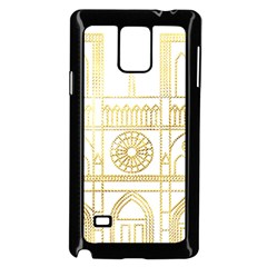 Gold Foil Notre Dame Church Paris Samsung Galaxy Note 4 Case (black)