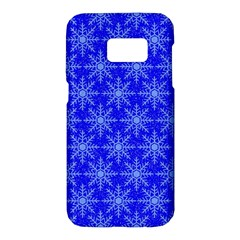 Snowflake Digital Paper Samsung Galaxy S7 Hardshell Case