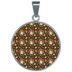 Model Wallpaper Wallpapers Texture 30mm Round Necklace by Wegoenart