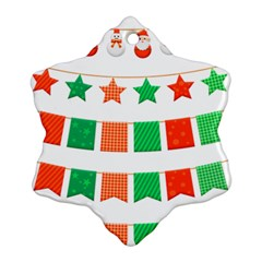 Christmas Bunting Banners Tassel Snowflake Ornament (two Sides)