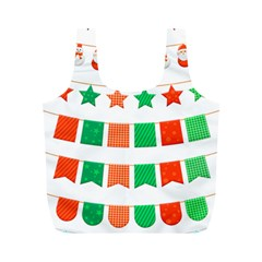 Christmas Bunting Banners Tassel Full Print Recycle Bag (m)