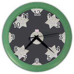 Star Silver Color Wall Clock by alllovelyideas
