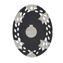 Star Silver Oval Filigree Ornament (two Sides) by alllovelyideas