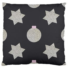 Star Silver Large Cushion Case (one Side) by alllovelyideas