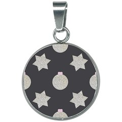 Star Silver 20mm Round Necklace