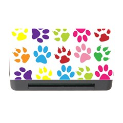 Paw Print Paw Prints Background Memory Card Reader With Cf