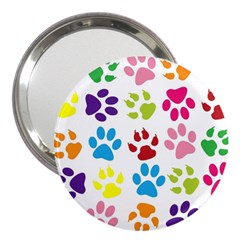 Paw Print Paw Prints Background 3  Handbag Mirrors