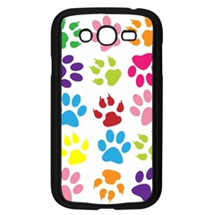 Paw Print Paw Prints Background Samsung Galaxy Grand Duos I9082 Case (black)