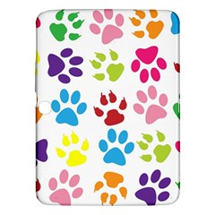 Paw Print Paw Prints Background Samsung Galaxy Tab 3 (10 1 ) P5200 Hardshell Case