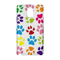 Paw Print Paw Prints Background Samsung Galaxy Note 4 Hardshell Case by Wegoenart