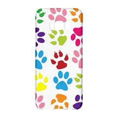 Paw Print Paw Prints Background Samsung Galaxy S8 Hardshell Case