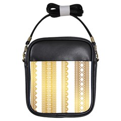Lace Gold Euclidean Vector Girls Sling Bag