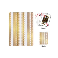Lace Gold Euclidean Vector Playing Cards (mini)