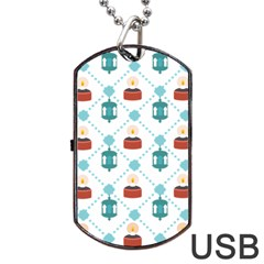 Geometric Patterns Pattern Candles Lights Dog Tag Usb Flash (two Sides)
