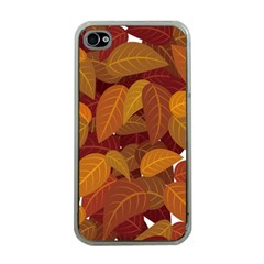 Leaves Pattern Apple Iphone 4 Case (clear)