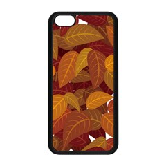 Leaves Pattern Apple Iphone 5c Seamless Case (black) by Wegoenart