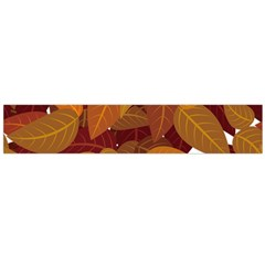 Leaves Pattern Large Flano Scarf