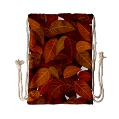 Leaves Pattern Drawstring Bag (small)