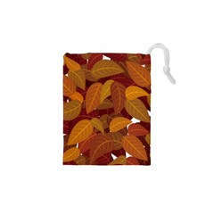 Leaves Pattern Drawstring Pouch (xs)
