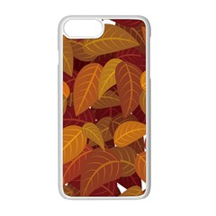 Leaves Pattern Apple Iphone 8 Plus Seamless Case (white)